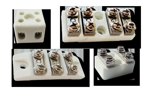 Керамические клеммники (термостойкие клеммные колодки)  от компании Полимернагрев