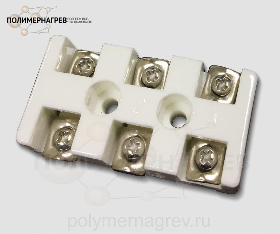 Керамическая колодка клеммная трехконтактная внешняя