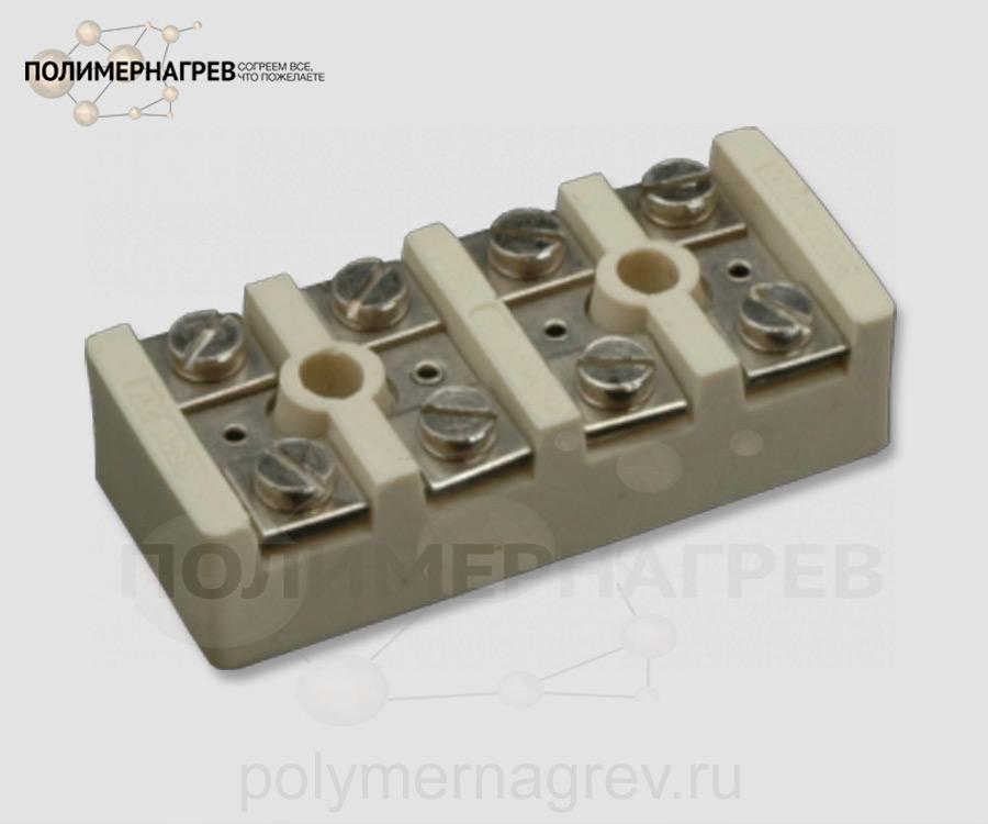 Керамическая колодка клеммная четырехконтактная внешняя