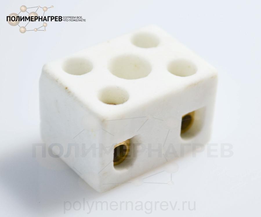 Керамическая колодка клеммная двухконтактная внутренняя