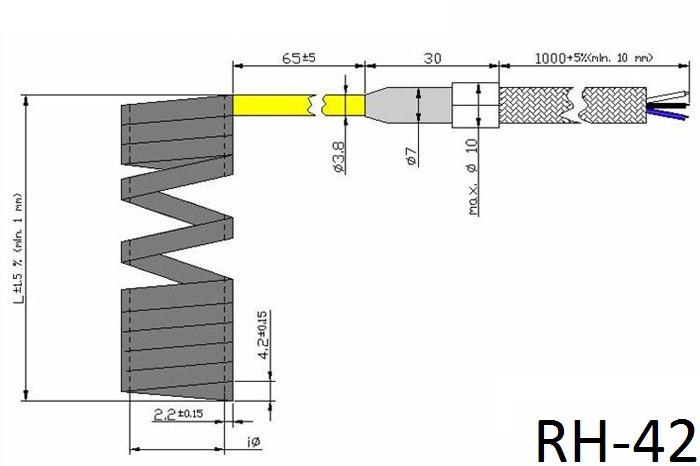 Спиральный нагреватель RH42 чертеж